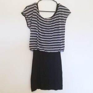 BCBGeneration Dresses - BCBGeneration Black/Gray Stripe Dress | Small